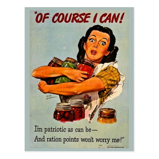 Of Course I Can! Vintage Retro World War II Postcards
