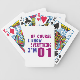 Of Course I Know Everything I Am 1 Bicycle Playing Cards
