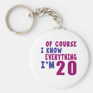 Of Course I Know Everything I Am 20 Key Ring