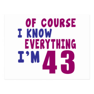 Of Course I Know Everything I Am 43 Postcard