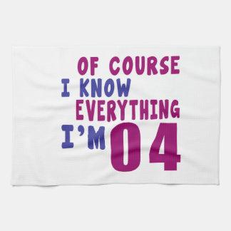 Of Course I Know Everything I Am 4 Tea Towel