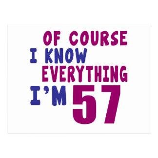 Of Course I Know Everything I Am 57 Postcard