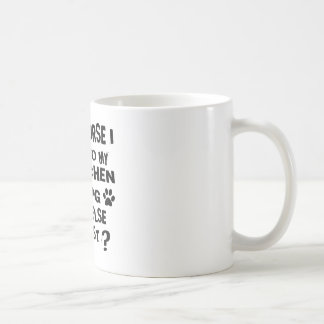 OF COURSE I TALK TO MY LOWCHEN DOG DESIGNS COFFEE MUG