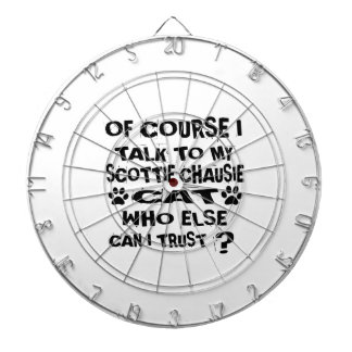OF COURSE I TALK TO MY SCOTTIE CHAUSIE CAT DESIGNS DARTBOARD