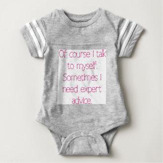 Of course I talk to myself Baby Bodysuit