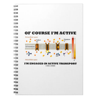 Of Course I'm Active Engaged In Active Transport Spiral Notebook