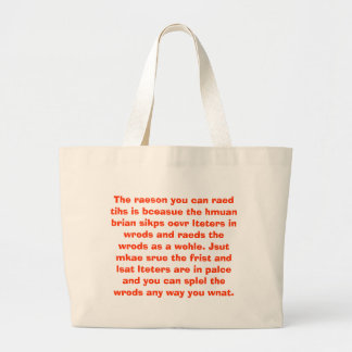 Of course you can read this! jumbo tote bag