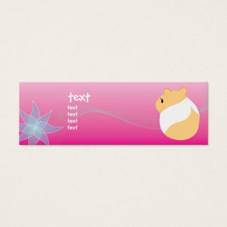 Of flowers and hamsters mini business card