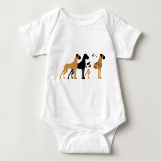 Of great dane basic colors baby bodysuit