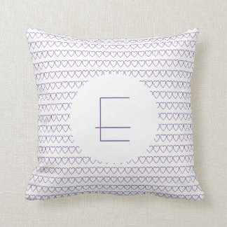 Of heart | turning cushion with mono gram of | 3