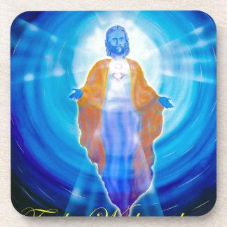 Of Jesus glad Christmas Coaster