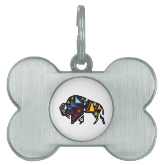 Of Many Patterns Pet Tag