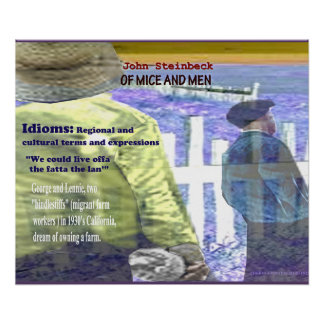 Of Mice and Men Idioms Poster