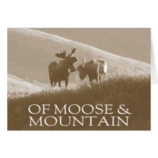 Of Moose & Mountain Blank Card
