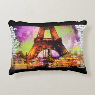 Of Paris Eiffel Tower, Eiffel Tower, Sketchbook Decorative Cushion