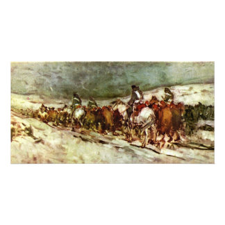 Of Prisoners By Grigorescu Nicolae (Best Quality) Customised Photo Card