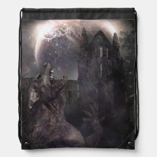 Of Wolf and Man Drawstring Bag