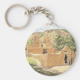 Oferta Para San Esquipula by Walter Ufer Basic Round Button Key Ring
