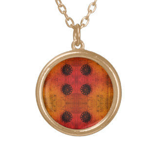 Off Centre Symmetry Gold Plated Necklace