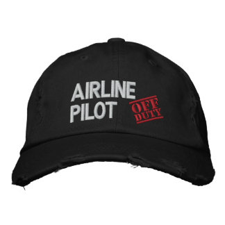 Off Duty Airline Pilot Embroidered Baseball Cap