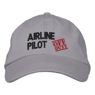 Off Duty Airline Pilot Embroidered Hats