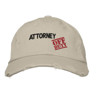 Off Duty Attorney Embroidered Hat