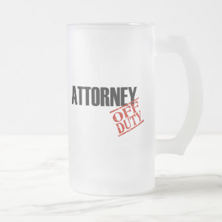 Off Duty Attorney Frosted Glass Mug