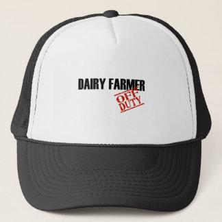 OFF DUTY DAIRY FARMER LIGHT TRUCKER HAT