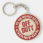 Off Duty Pi Memorisation Keychains