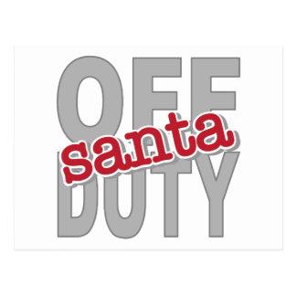 Off Duty Santa Tee Shirts and Gifts Postcard