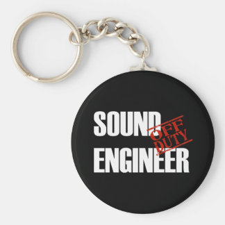 OFF DUTY SOUND ENGINEER DARK KEY RING