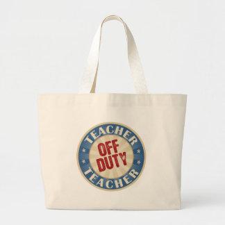 Off Duty Teacher Jumbo Tote Bag