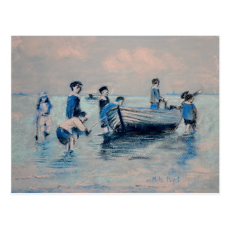 Off New Brighton Shore - 1891 Postcard
