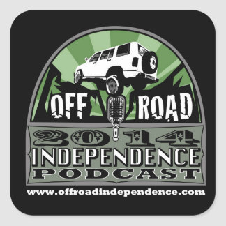 "Off-Road Independence 3""x3"" radius corner stickers"