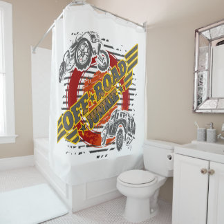 Off Road Junkie 4x4 Shower Curtain
