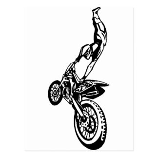 Off-Road Motorcycle Race Postcard