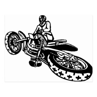 Off-Road Motorcycle Racer Post Card