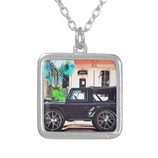 OFF ROAD WARRIOR SILVER PLATED NECKLACE