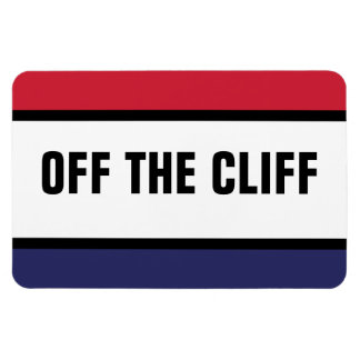 Off The Cliff Rectangular Photo Magnet