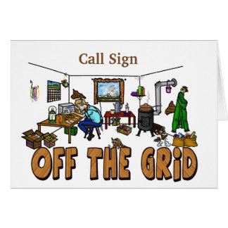 Off-The-Grid Ham Radio Operator Birthday Card