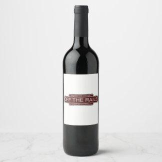 Off The Rails custom wine bottle labels