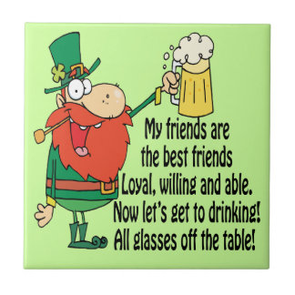Off The Table Leprechaun Friends Tile