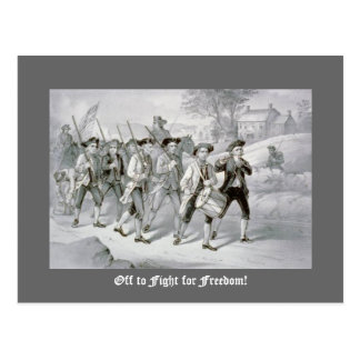 Off to Fight for Freedom! Postcard