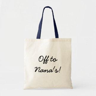 Off  to Nana's! Tote bag