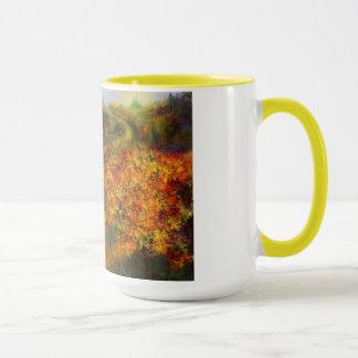 Off to Oz Yellow 15oz Ringer Coffee Mug