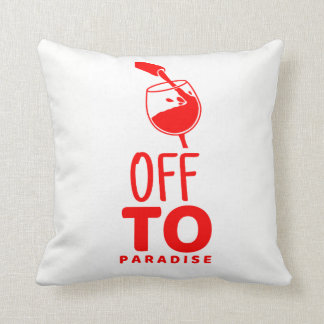 Off To Paradise Polyester Pillow
