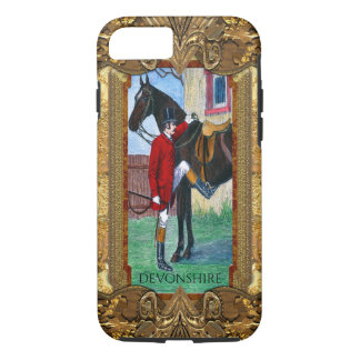 Off To The Hunt English Rider and Horse Monogram iPhone 8/7 Case