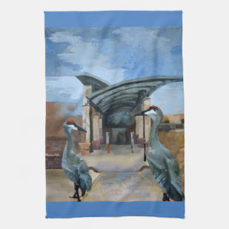 Off to the Library Dish Towel