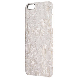 Off White Fine Lace Texture Clearly iPhone Case
