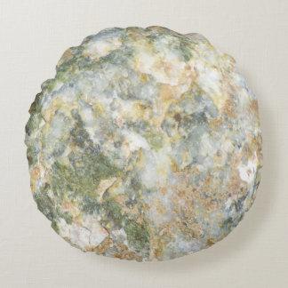 Off White Granite Round Cushion